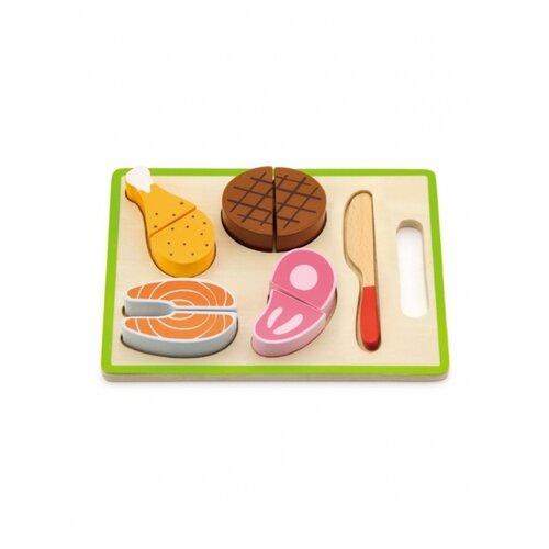 Купить Набор продуктов Viga 50980 разноцветнй, Игрушечная еда и посуда