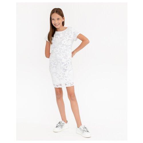 Платье Gulliver размер 152, белый платье oodji ultra цвет красный белый 14001071 13 46148 4512s размер xs 42 170