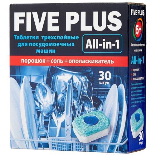 Five plus All in 1 таблетки для посудомоечной машины, 30 шт.