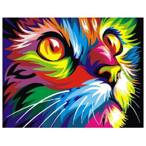 Фото - ВанГогВоМне Картина по номерам Радужный кот, 40х50 см (ZX 20237) вангогвомне картина по номерам любовь к кофе 40х50 см zx 22277