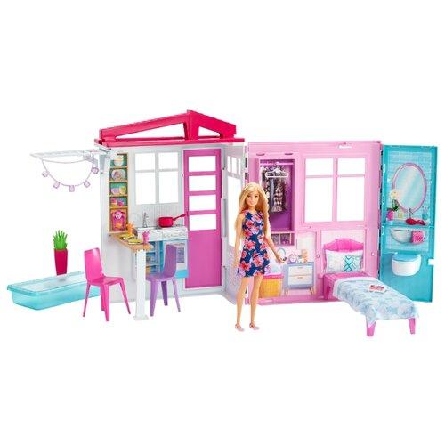 Купить Barbie Кукольный домик FXG55, белый/розовый, Кукольные домики