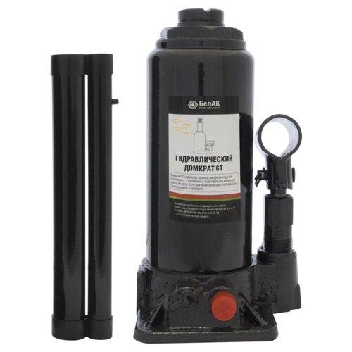 Домкрат бутылочный гидравлический БелАвтоКомплект БАК.00030 (6 т) черный домкрат бутылочный гидравлический белавтокомплект бак 10039 2 т черный