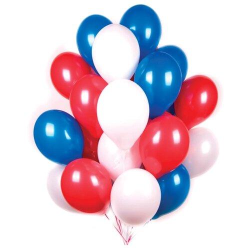 Набор воздушных шаров Поиск Триколор (30 шт.) белый/красный/синий