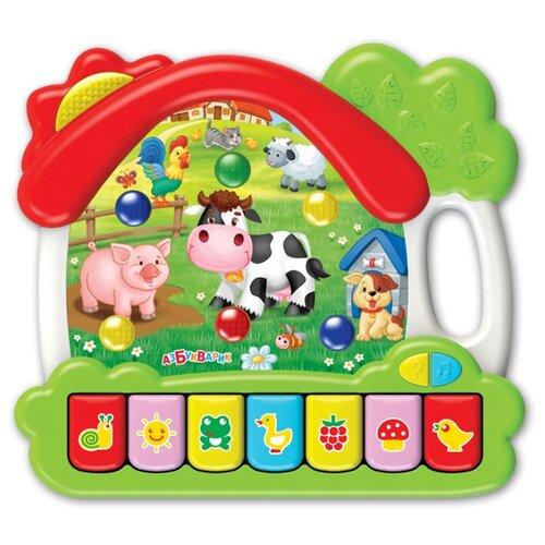 Развивающая игрушка Азбукварик Музыкальный домик Ферма зеленый