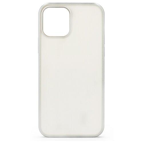 Матовый силиконовый чехол для iPhone 12 mini / Прозрачный чехол с бампером на Айфон 12 мини (Серебро)