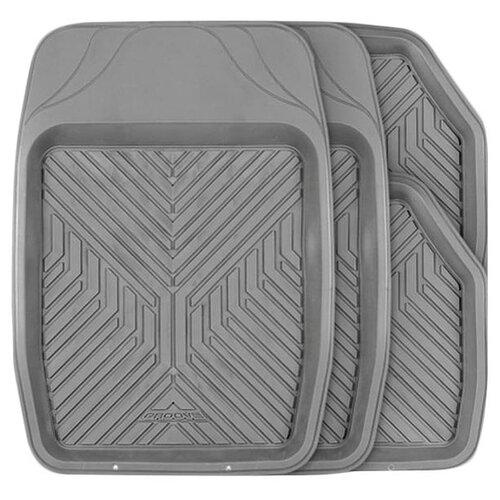 Комплект ковриков AUTOPROFI TER-150 4 шт. серый коврики автомобильные autoprofi ter 150m bk