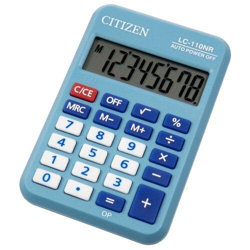 Калькулятор карманный CITIZEN LC-110NR голубой