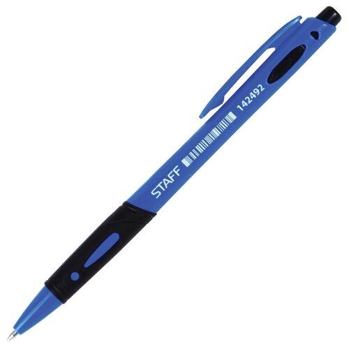 STAFF Ручка шариковая с грипом, 0.7 мм (142492), синий цвет чернил ручка корректор staff 7 мл