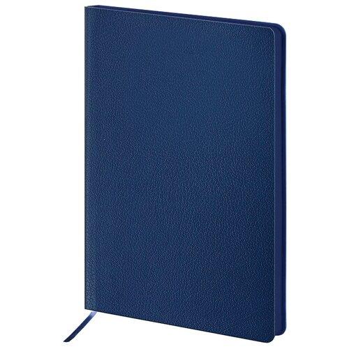 Купить Ежедневник BRAUBERG Flexio недатированный, искусственная кожа, А5, 160 листов, синий, Ежедневники, записные книжки