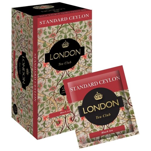 Чай черный London tea club Standart сeylon в пакетиках , 25 шт.