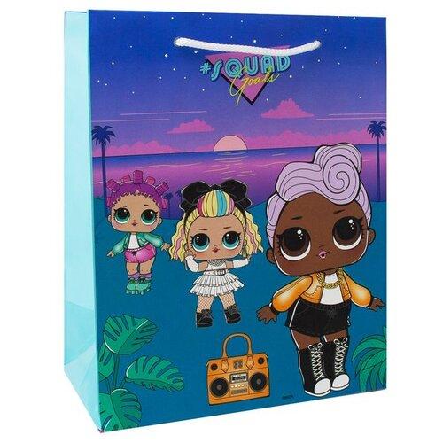 Пакет подарочный ND Play L.O.L. 18x22.7x10 см бирюзовый с закатом