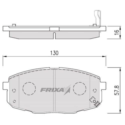 Фото - Дисковые тормозные колодки передние Frixa FPK14N для Kia Carens, Kia Ceed (4 шт.) дисковые тормозные колодки передние frixa fpe019 для toyota camry 4 шт