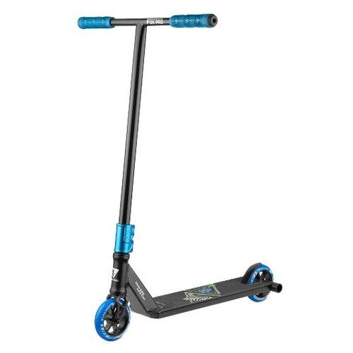 Городской самокат FOX PRO Big Boy 5.0 2020 черный/синий самокат fox scooter pro v tech03 blue
