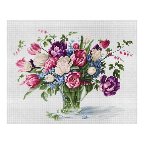 Фото - Luca-S Набор для вышивания Тюльпаны, 33.5 х 26 см, B2261 набор для вышивания luca s b548 клёвое место