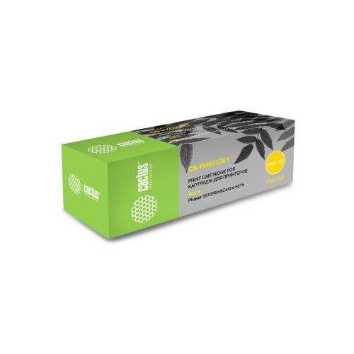 Фото - Картридж лазерный Cactus 106R03487 CS-PH6510Y желтый (2400стр.) для Xerox Phaser 6510DN/WC 6515DN картридж лазерный cactus cs ph3420x 106r01034 черный 8000стр для xerox phaser 3420