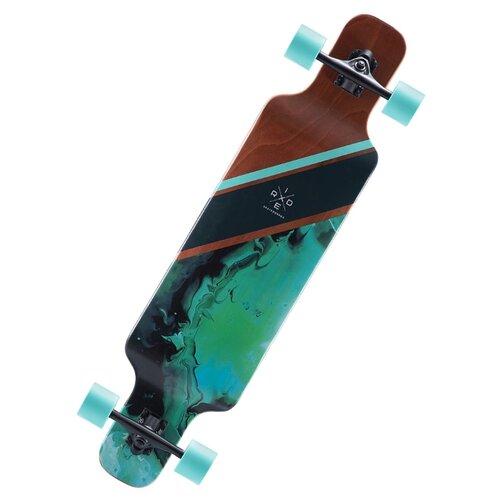 """Лонгборд Ridex Marble 40.15"""" черный/зеленый/коричневый"""
