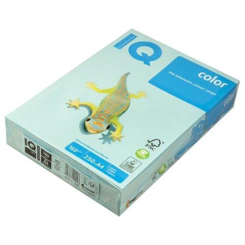 Фото - Бумага IQ Color А4 160 г/м² 250 лист. голубой МВ30 1 шт. бумага iq color а4 160 г м² 250 лист розовый pi25 5 шт