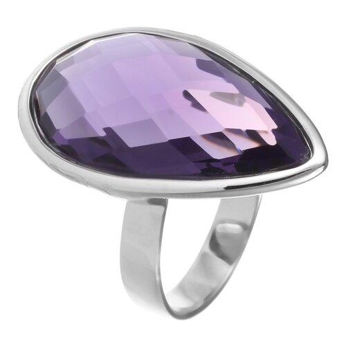 JV Кольцо с стеклом из серебра B3200-US-016-WG, размер 17 jv кольцо с ювелирным стеклом из серебра b3198 us 011 wg размер 17 5
