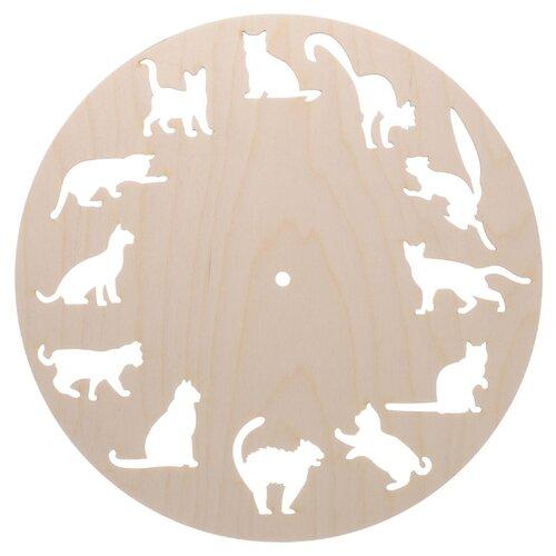 Купить Astra & Craft Деревянная заготовка циферблат Кошки (L-188), Роспись предметов