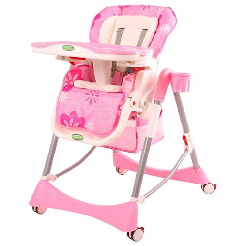Стульчик для кормления BabyOne H1008, розовый