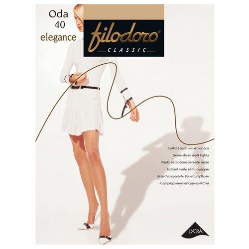 Колготки Filodoro Classic Oda Elegance, 40 den, размер 2-S, cognac (бежевый) колготки filodoro classic oda elegance 40 den размер 2 s cappuccio коричневый