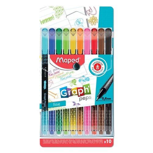 Купить Maped Набор капиллярных ручек Graph Peps, 0, 4 мм (749050), Ручки