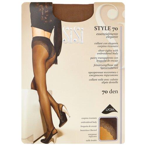 Колготки Sisi Style 70 den, размер 5-MAXI XL, daino (бежевый) колготки sisi activity 70 den размер 5 maxi xl daino коричневый