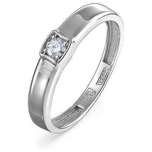 KABAROVSKY Кольцо с 1 бриллиантом из белого золота 11-11267-1000, размер 17 фото