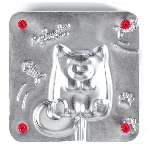 Форма для мармелада Леденцовая фабрика Котик (0057) серебристый