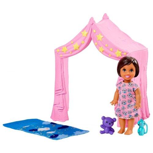 Купить Набор Barbie Игра с малышом Розовый шатер, FXG97, Куклы и пупсы