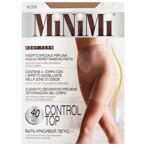 Колготки MiNiMi Control Top 40 den, размер 3-M, caramello (бежевый) колготки minimi slim control 20 den размер 3 m caramello бежевый