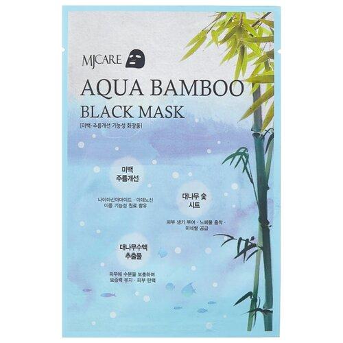 MIJIN Cosmetics тканевая маска MJ Care Aqua Bamboo black mask, 25 г маска тканевая для лица c коллагеном mijin cosmetics mj care daily dew mask pack collagen 25 г