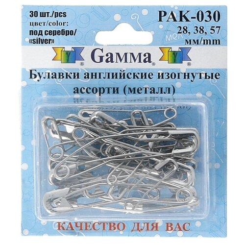 Набор булавок Gamma PAK-030, под серебро, 30 шт.
