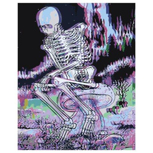 Купить Череп 3D Раскраска картина по номерам на холсте Z-AB634 40х50, Живопись по номерам, Картины по номерам и контурам