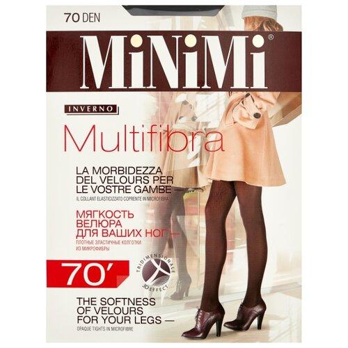 Колготки MiNiMi Multifibra 70 den, размер 3-M, nero (черный) колготки minimi lanacotone 180 den размер 3 m nero черный