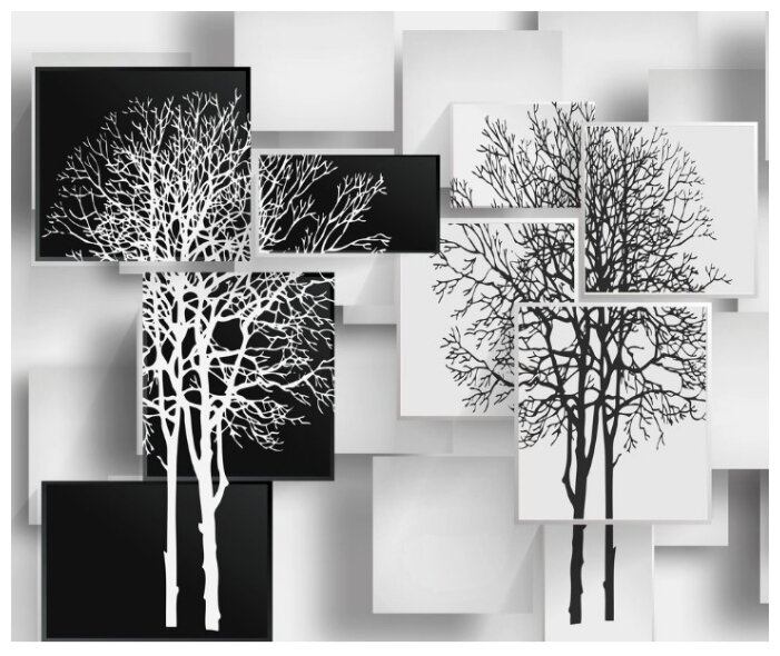 Фотообои флизелиновые Design Studio 3D Деревья в стиле модерн 3х2.5м