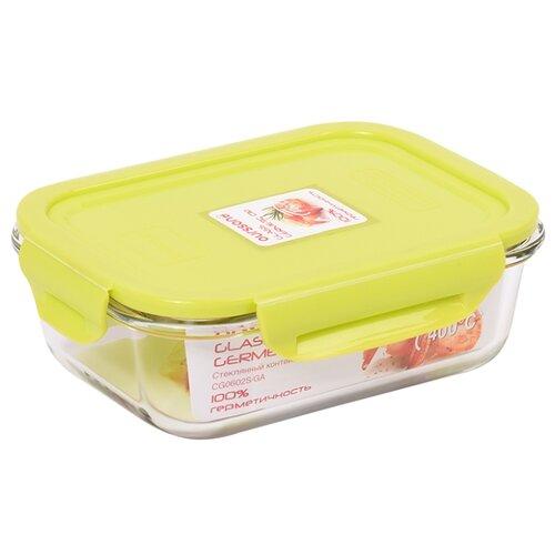 Oursson Контейнер CG0602S, 13.2x17.6 см, прозрачный/зеленый oursson контейнер cp1304s оранжевый прозрачный