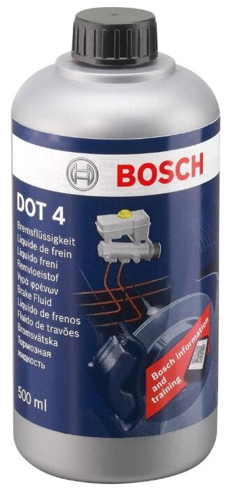 Тормозная жидкость Bosch DOT 4, Brake Fluid 0.5 л