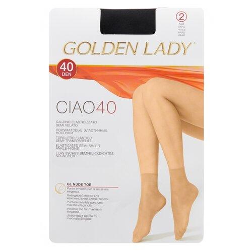 Капроновые носки Golden Lady Ciao 40 Den, 2 пары, размер 0 (one size), nero