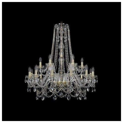 Фото - Люстра Bohemia Ivele Crystal 1411 1411/12+6/300/h-94/G, E14, 720 Вт люстра bohemia ivele crystal 1411 1411 12 6 300 h 94 g e14 720 вт