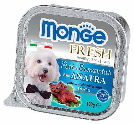 Корм для собак Monge Fresh утка 32шт. х 100г