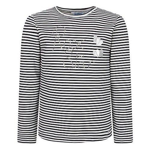 Купить Лонгслив Mayoral размер 92, белый/синий, Футболки и рубашки