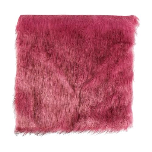 Мех искусственный Арт Узор для творчества 2150 г/м, 30x30 см розовый с темными кончиками