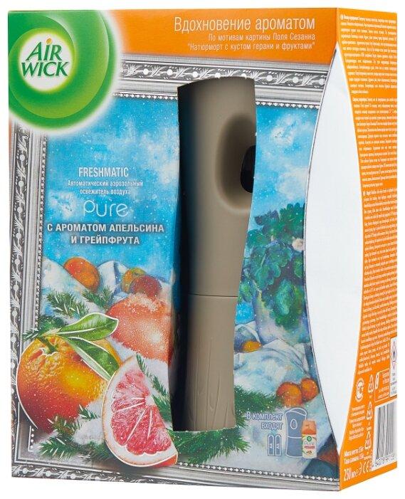 Air Wick аэрозоль 5 эфирных масел с ароматом апельсина и грейпфрута автоматический, со сменным баллоном, 250 м