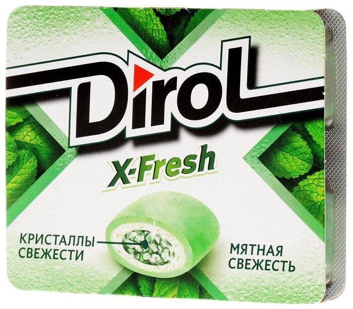 Жевательная резинка Dirol Cadbury X-Fresh мятная свежесть 16 г