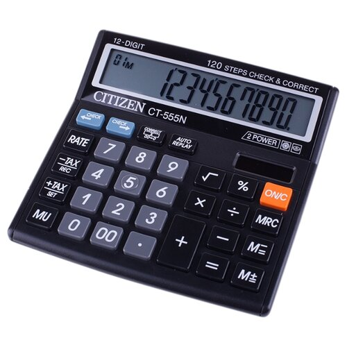 Калькулятор бухгалтерский CITIZEN CT-555N черный