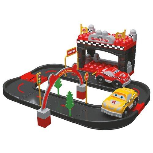 Купить Terides Т6-096 серый/красный, Детские парковки и гаражи