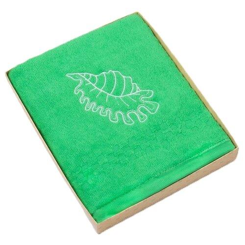 Фото - Collorista Полотенце Ракушка 50х90 см зеленый полотенце полосы цвет зеленый 50х90 см