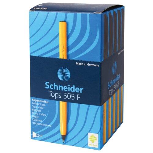 Schneider Набор шариковых ручек Tops 505 F, 0.8 мм, 50 шт., черный цвет чернил, Ручки  - купить со скидкой