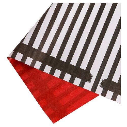 """Бумага упаковочная Дарите счастье """"Зебра и яркий бордо"""" 0,68 х 8 м белый/красный/черный"""